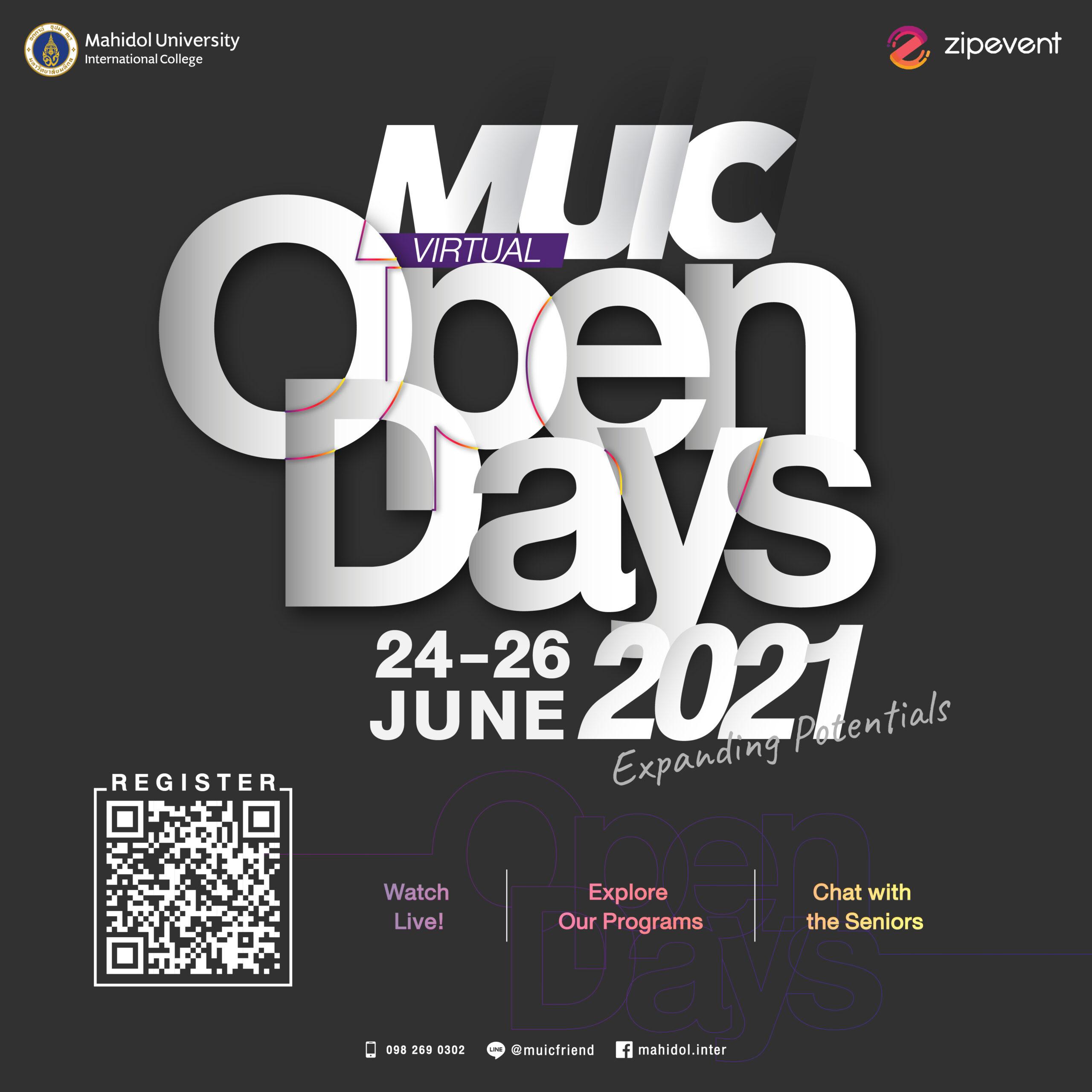 วิทยาลัยนานาชาติ ม.มหิดล จัด MUIC Virtual Open Days 2021 สอบถามพูดคุยการเรียนการสอนผ่านสื่อออนไลน์เสมือนจริง